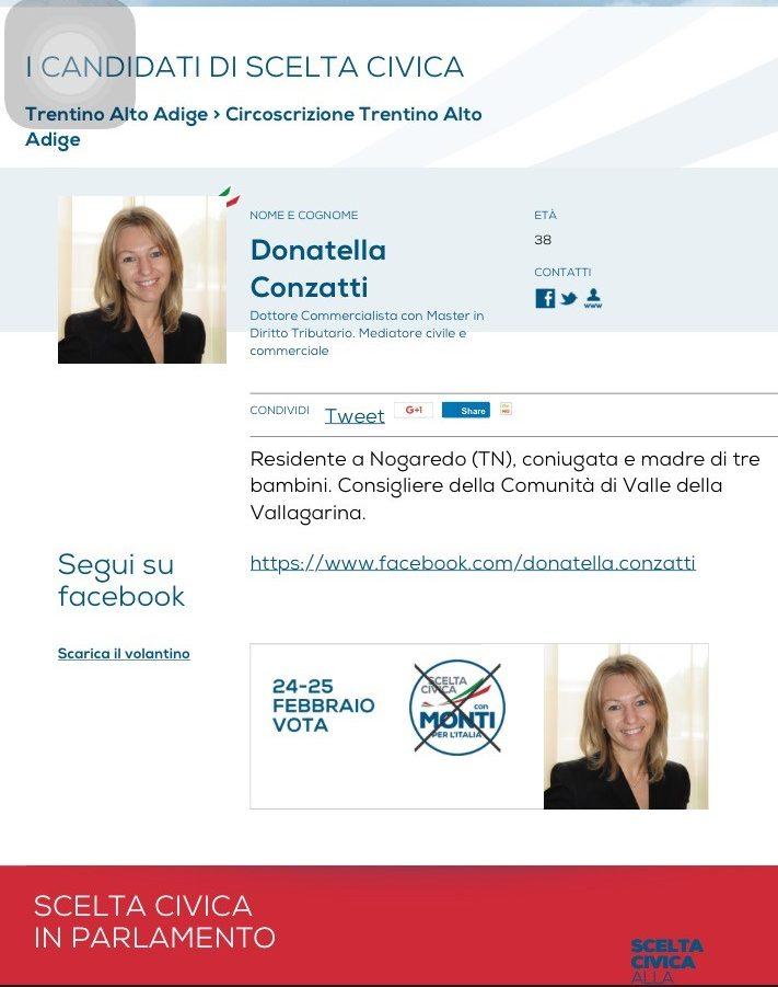 Donatella Conzatti in scelta civica